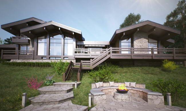 Дом на склоне у воды