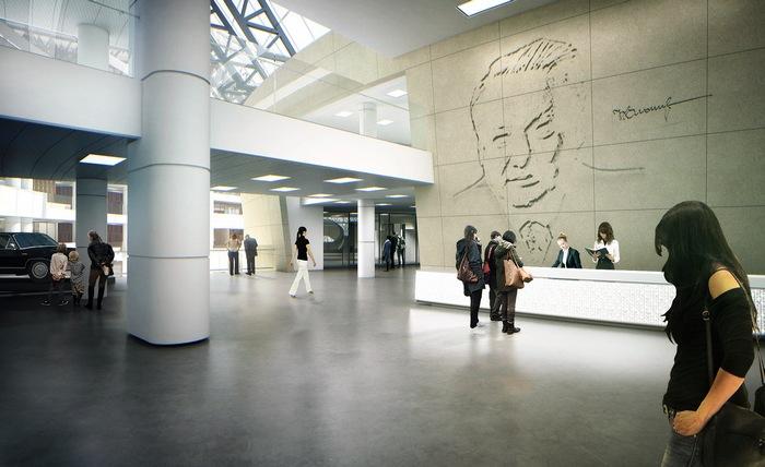 интерьер музея Ельцина, Андрей Вовк