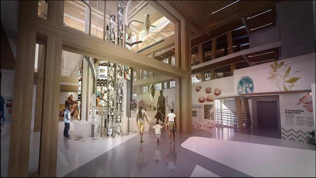 интерьер павильона Анголы на выставке Экспо 20015