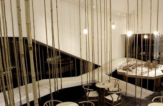 интерьер ресторана, зал, Gu Yuan