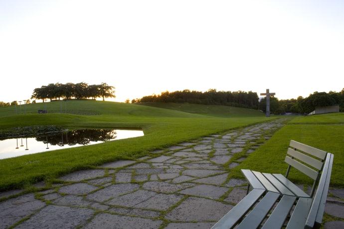 ландшафт Woodland Cemetery в Стокгольме