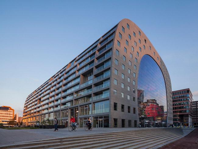 здание Markethall в Роттердаме, архитектурное проектирование MVRDV