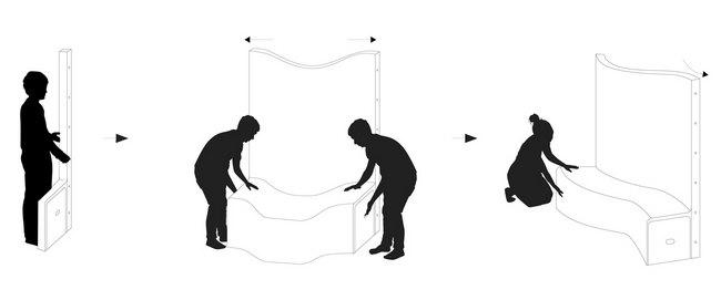 Схема скамейки качели
