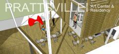 Арт центр и жилье для художников в Пратсвилле, Нью-Йорк