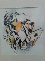 """композиция """"Симметрия"""", бумага, карандаш"""