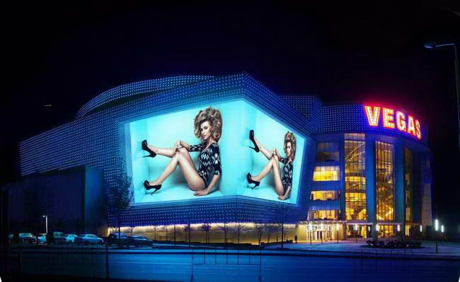 фасад ТРЦ Vegas Крокус Сити