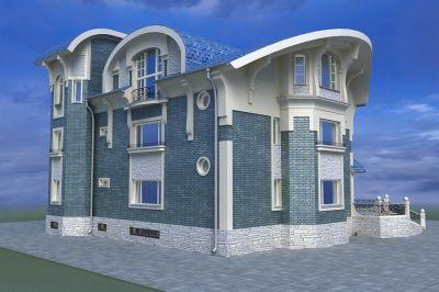 Трехэтажный жилой дом, реконструкция мансардного этажа и фасада.