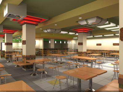 интерьер зала для посетителей в витамин-баре