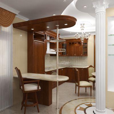 Кухня столовая интерьер квартиры в