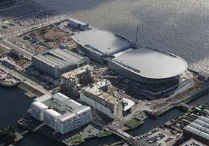 Вид сверху на  арену и конференц-зал в Ливерпуле