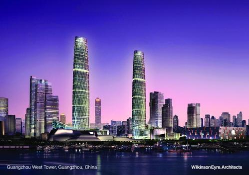 Небоскребы в Гуаньчжоу, архитектор Крис Уилкинсон