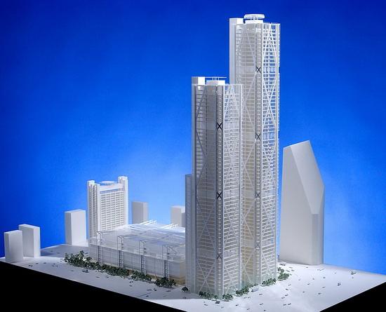 комплекс Парк1, свежая работа архитектора Ричарда Роджерса, фото макета