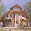 фото дома из некалиброванного бруса, архитектор Петр Отлан