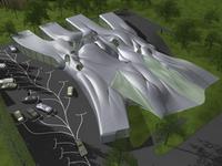 Проект британского Софт-офиса, архитектурная компания NOX (Нидерланды), архитектор Lars Spuybroek